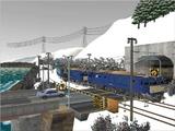 雪景色と貨物交換駅レイアウト踏切14.jpg