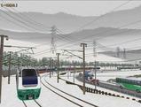 奥中山大カーブ冬景色E653系8緑色