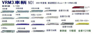 新VRM3車両NO1新幹線,