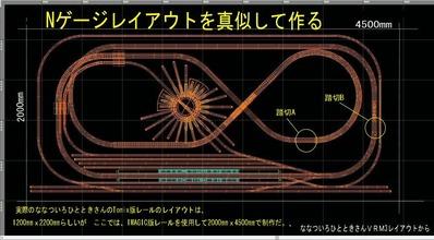 ななついろVRM3レイアウト配線図踏切1