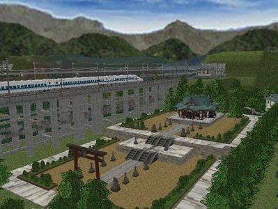 白石駅構内完成形下り方面1神社