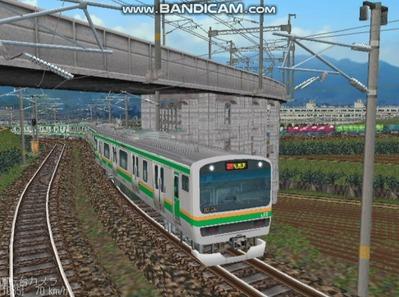 越河レイアウト電車シリーズ75-E231系近郊電車5