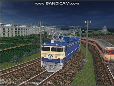 越河レイアウト夜汽車シリーズ14-EF65-500富士2