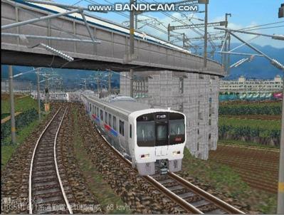 越河レイアウト電車シリーズ67-811系JR九州電車5