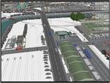 雪景色完成その24 コンテナ埠頭線上空1