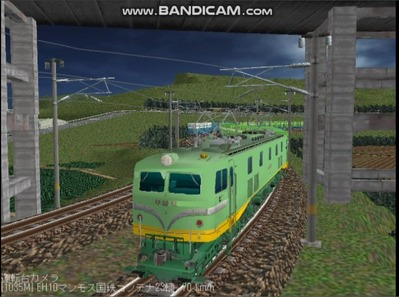 越河レイアウト夜汽車シリーズ18-EF58-45青大将コンテナ7