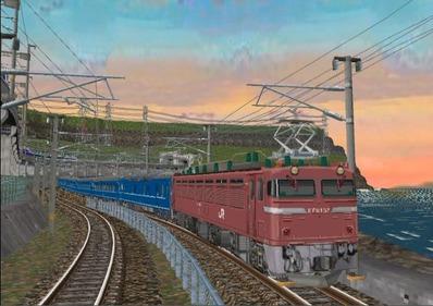 仮想日本海縦幹線日本海夕暮れ9日本海1