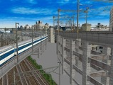 3欲張り新幹線レイアウト踏切道部分99