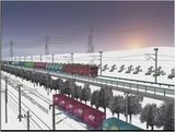 雪景色完成その26見張線5