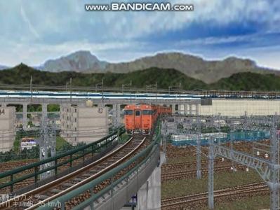 越河レイアウトカメラ切替ローカル見張線キハ48系4