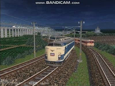 越河レイアウト夜汽車シリーズ2-583系はつかり2