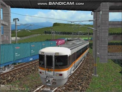 越河レイアウト特急シリーズ21-373系ワイドビュー東海6