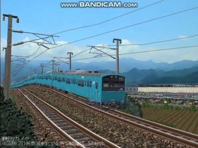 越河レイアウト電車シリーズ70-201系京浜東北スカイブルー5