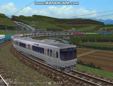 越河レイアウト電車シリーズ68-223系1000番台6