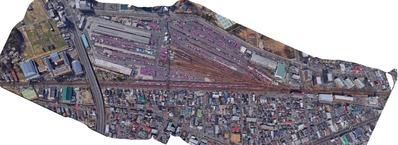 貨物線、宮城野駅上空写真2SS