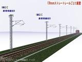 IMAGIC 単線架線柱鉄骨型B 128�斜め2