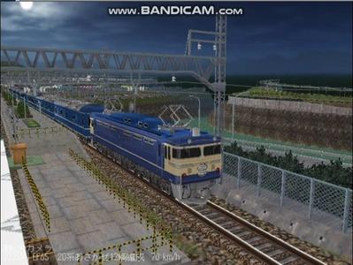 越河レイアウト夜汽車シリーズ13-EF65-500あさかぜ5
