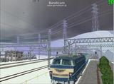 北の貨物駅通過中EF66-32-3