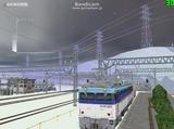 北の貨物駅通過中EF81-502-4