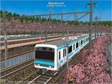 進撃の通勤電車37  JR209系ブルー4.
