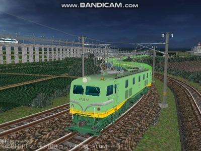 越河レイアウト夜汽車シリーズ18-EF58-45青大将コンテナ2
