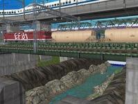 3300X700�レイアウト河川を作る9