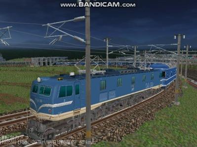 越河レイアウト夜汽車シリーズ15-EF58-138さくら-3