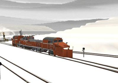 仮想石北本線遠軽駅DE15ラッセル仕様5