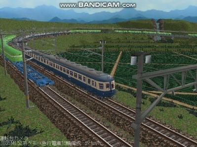 越河レイアウト電車シリーズ58-52系流電6