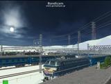北の貨物駅通過中EF66さくら3