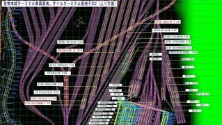 KATO曲線デッキ貨物本線ターミナル駅配置図2