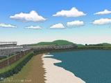新幹線レイアウト東側海1