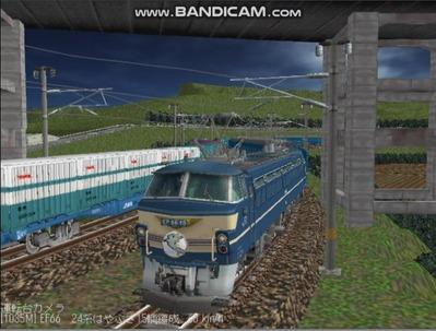 越河レイアウト夜汽車シリーズ10-EF6649はやぶさ6