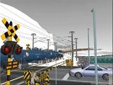 雪景色と貨物交換駅レイアウト踏切10.jpg