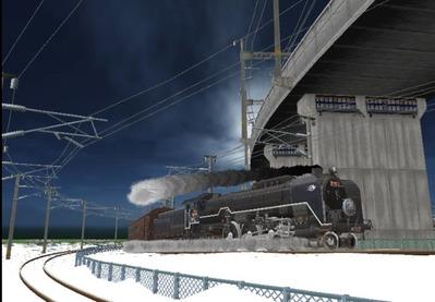 仮想日本海縦幹線雪景色C62-13