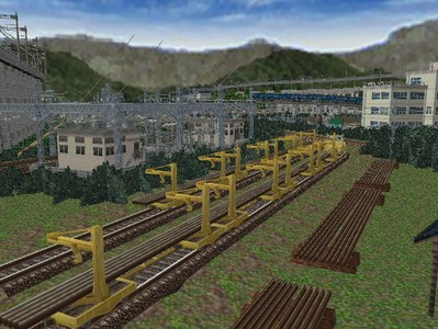 白石駅構内完成形上り方面レール保管1