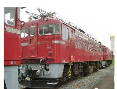 仙台新幹線車両基地展示車両ED75-1