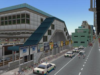 KATOユニトラックレイアウトプ6-9中央駅前周辺2