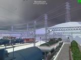 北の貨物駅通過中EF66-32-1.