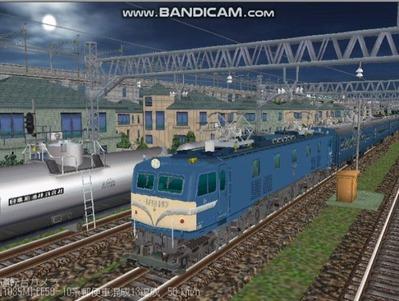 越河レイアウト夜汽車シリーズ16-EF58-157八甲田1