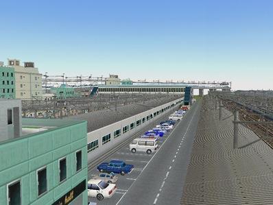 KATOユニトラックレイアウトプラン駅裏と踏切5