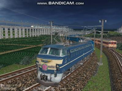 越河レイアウト夜汽車シリーズ7-EF66-51さくら6