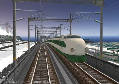 仮想日本海縦幹線雪景色夜明け前200系1