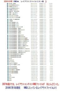 旧VRM3★レイアウトファイルリスト表3