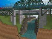 3300X700�レイアウト河川を作る8