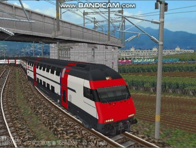越河レイアウト特急シリーズ56-スイス国鉄IC-2000-6