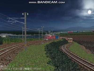 越河レイアウト夜汽車シリーズ6-EF8181北斗星1