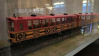 ジオラマ京都嵯峨野トロッコ列車模型1
