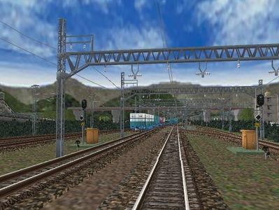 白石駅構内下り出発信号機1