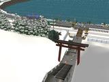 仮想津軽海峡線VRM3神社施工前2